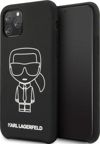 Lagerfeld iPhone 11 Pro Silicone Ikonic Black/White
