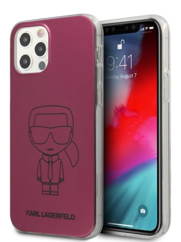 Lagerfeld iPhone 12 Pro Max Ikonik outlines Hard Pink