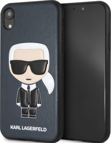 Lagerfeld iPhone XR PU Leather Karl Hard Blue