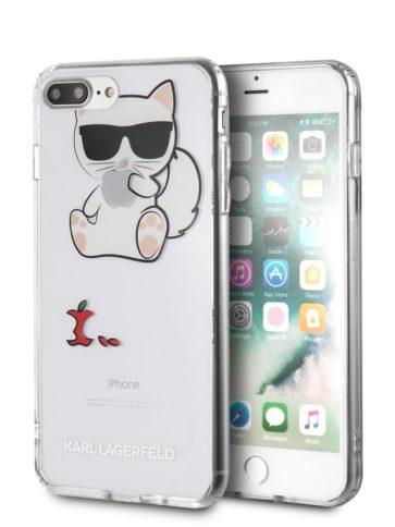 Lagerfeld iPhone 8 Plus TPU Choupette Apple Transparent