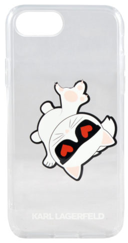 Lagerfeld iPhone 8 Plus TPU Choupette Fun Hard Transparent