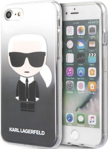 Lagerfeld iPhone 8 TPU Karl Ikonik Hard Gradient Black