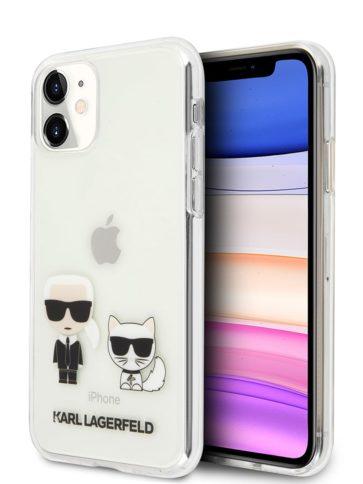 Lagerfeld iPhone 11 Karl Iconik & Choupette Transparent