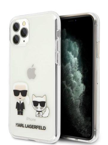 Lagerfeld iPhone 11 Pro Max Karl Iconik & Choupette Transparent
