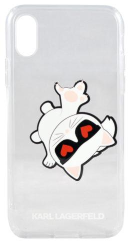 Lagerfeld iPhone X/XS TPU Choupette Fun Apple
