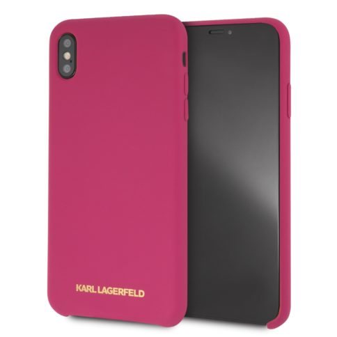 Lagerfeld iPhone X/Xs Silicone Hard Saturated Pink