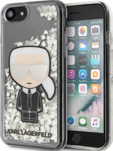 Lagerfeld iPhone 7/8/SE Liquid glitter Karl Transparent
