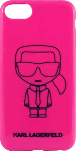 Lagerfeld iPhone 7/8/SE Ikonik Hard Pink/Black